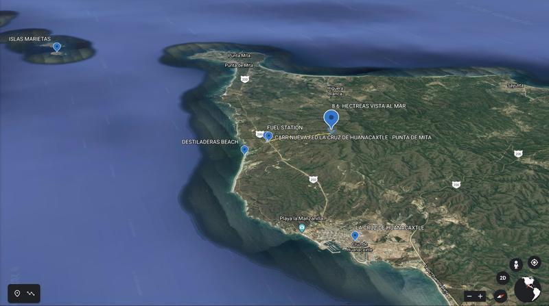 318 Carr Fed La Cruz Punta De Mita, 8.6 Hect Mountain Ocean View, Riviera Nayarit, Na