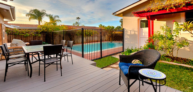 Poolside in Pacific Beach Villa Rental